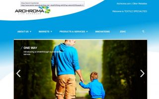 screenshot Webseite Archroma Photo: Archroma