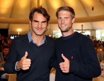 Die beiden Finalisten feierten auf der GERRY WEBER OPEN Fashion Night: Roger Federer und Andreas Seppi. Photos: ISKO
