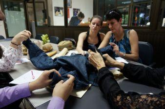 Von beeindruckender Qualität - mit echtem Indigo gefärbter Jeansstoff