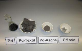 Textilbasierte Rückgewinnung von Palladium und anderer Edelmetalle: Zu sehen auf dem Innovationstag Mittelstand Photo: DTNW
