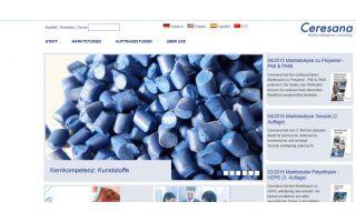 Screenshot Webseite Ceresana Photo: screenshot