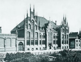 Historische Ansicht des Hauptgebäudes der Fakultät für Textil- und Bekleidungstechnik (textile Ausbildung seit 1901), Mönchengladbach Photo: IFKT