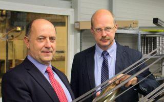 Prof. Dr.-Ing. Lothar Kroll (l.) und Prof. Dr. Welf-Guntram Drossel.  (Photo: Fraunhofer)