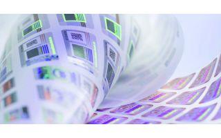 Neu: individuelle Hologrammierung zur Warenkennzeichnung Photo: Schwarz Druck