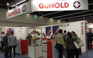 Blick auf den Messestand Gunold texprocess 2015 Photos: Gunold