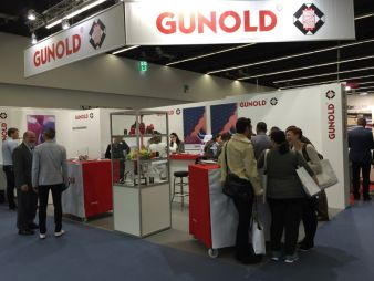 Blick auf den Messestand Gunold texprocess 2015 Photos: Gunold