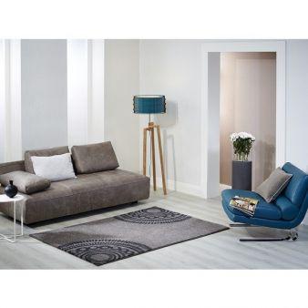 Die Teppiche Loft und Patio sind in zwei Farbgebungen – Schlamm/Creme und Schwarz/Creme– erhältlich Photos: B.B. Home Passion