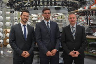 Nachfolge gesichert: Benjamin, Sebastian und Marcus Mayer teilen sich künftig die Führung des traditionsreichen Strickmaschinenherstellers
