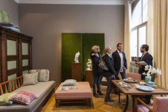 Blick in den Meissen –Showroom auf der Messe in München Photos: Meissen