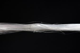 Faserbündel der künstlichen Spinnenseide Biosteel