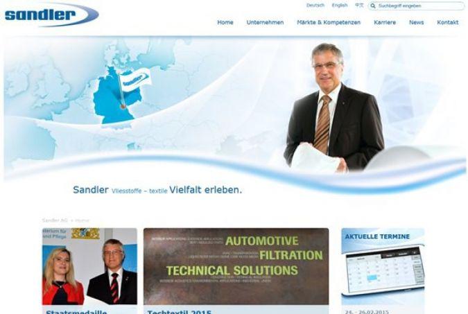 screenshot Sandler Webseite