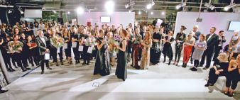 450 Gäste feierten die internationalen Nachwuchsdesigner im Fraport Forum auf dem Frankfurter Flughafen