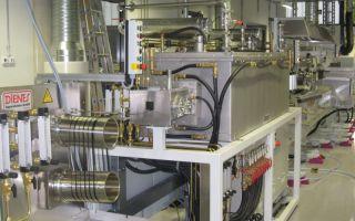 Hochtemperaturofen und Oberflächenbehandlungsstrecke der Carbonisierungsanlage Photo: ITCF
