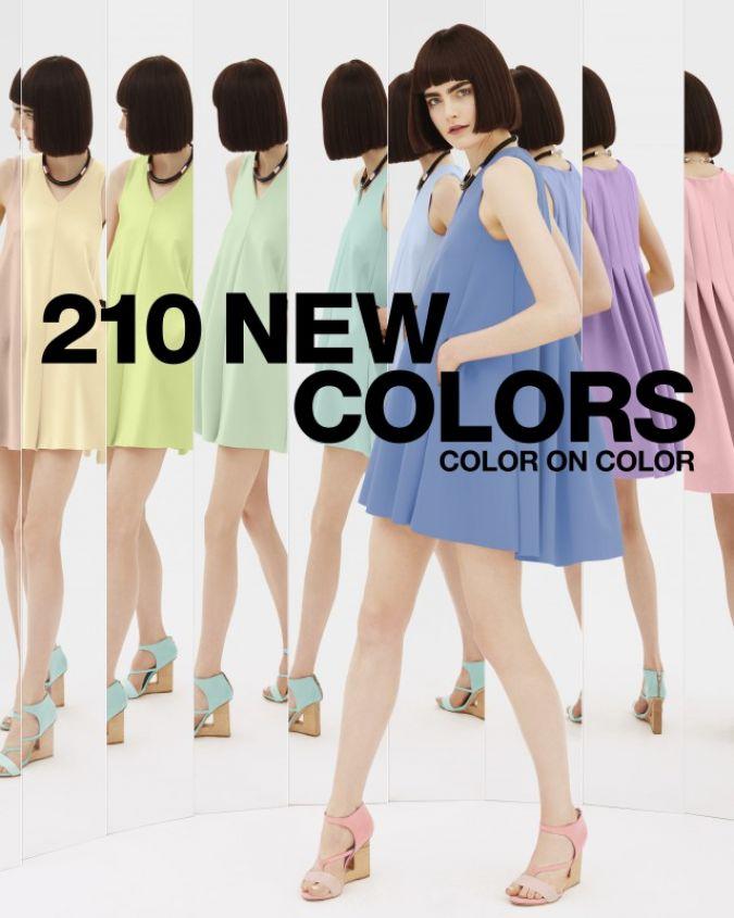 Die neuen Farben von Pantone. Papierartige Pastelltöne vermischt mit weicheren Tönen Photo: Pantone