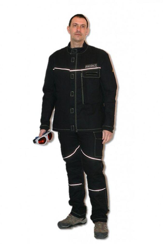 Neuartige Schutzbekleidung für Laserstrahlarbeiten: ein Erfolgsprojekt der   BMWi-Förderung durch das Zentrale Innovationsprogramm Mittelstand Ph...