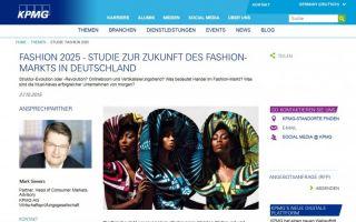 Die Studie: Fashion 2025 / KPMG kann kostenlos angefordrt werden. (Photo: screenshot webseite KPMG)