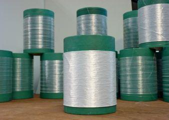 ZTA-Grünfaser (ungebrannte Faser) auf Spulen Photo: ITCF Denkendorf