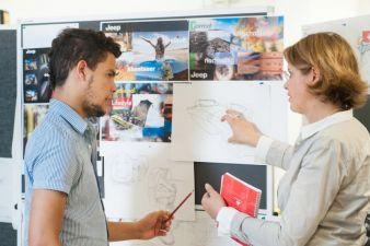 Im Reutlinger Studiengang Transportation Interior Design gestalten Studenten die Innenräume von Pkws, Bussen oder Flugzeugen Photos: Hochschule Re...