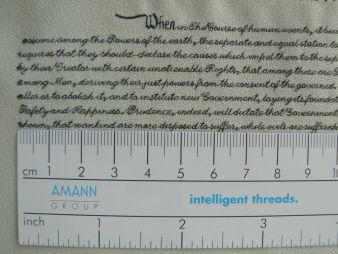 Serafil von Amann ermöglicht kleinste, gestickte Schriften  (Photo: Amann)