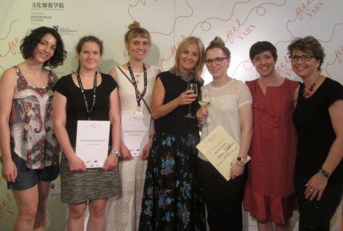 Die Siegerehrung: (von links) Vorjahresteilnehmerin Miya Budaeva, Teilnehmerinnen Katharina Bredlich und Jennifer von Scotti, Raffaella Pinori von...