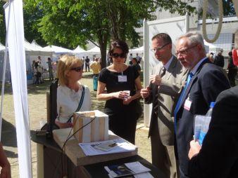 Traditionell auf dem Innovationstag vertreten: die deutsche Textilforschung (Photo: InnoMedia)