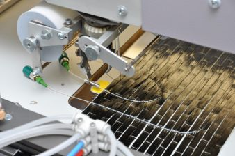 Stickmaschine zur Applikation der optischen Fasern Photo: STFI
