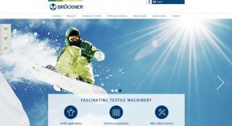 Der neue Markenauftritt im modernen Design von Brückner - Homepage. (Photo: Brückner)