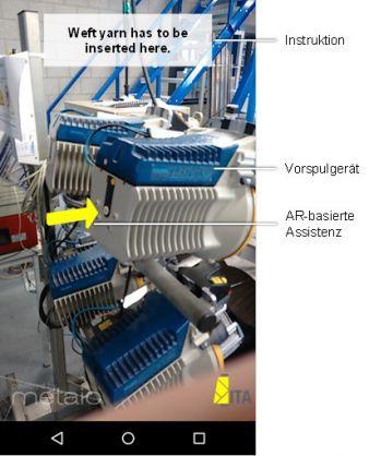 AR-basierte Assistenz bei Schussbruch vor Vorspulgerät