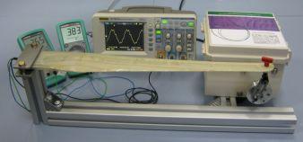 Rotorblatt mit integrierten Sensoren in Prüfvorrichtung Photo: TITK