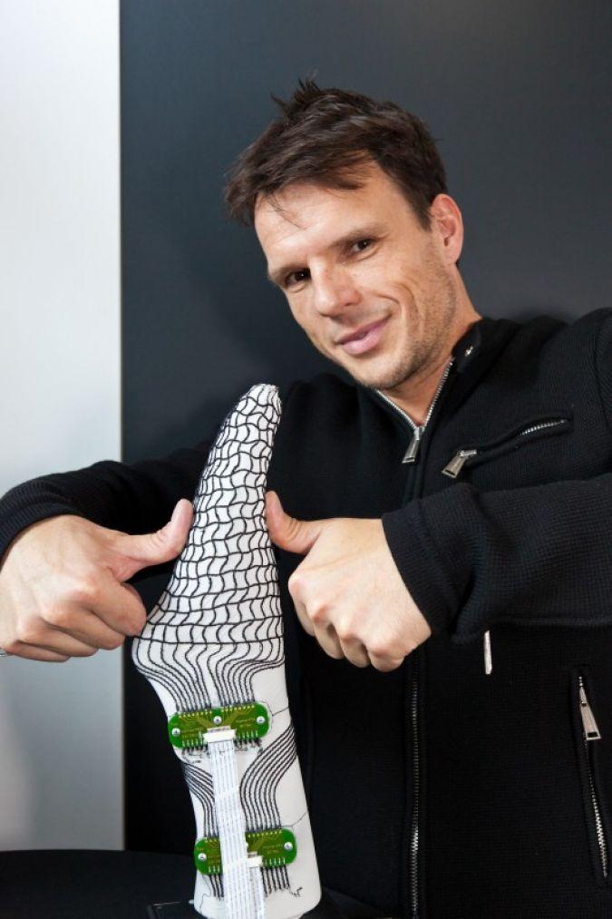 Medtech: Intelligente Textilien zum Messen und Diagnostizieren – Spezielle Socke zur Schuhanpassung für Diabetiker, Alphafit Textile Sensoric