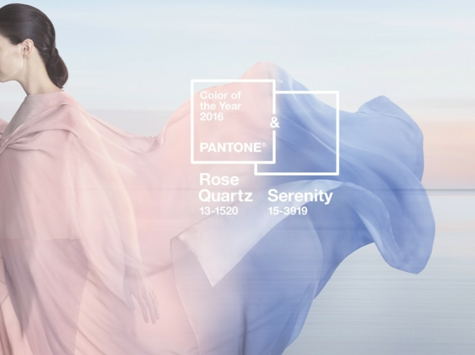 Die Farbe(n) des Jahres 2016: Serenity und Rose Quartz. (Photos: Pantone)