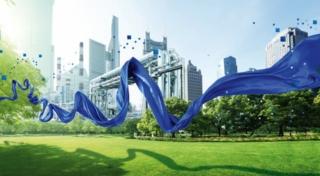 bluesign steht für the blue way: Blue Economy – Blue Chemistry – Blue Competence Photo: bluesign