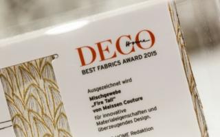 Best Fabrics Award 2015 für das Mischgewebe Fire Tail