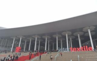 Das National Exhibition and Convention Center Shanghai - Austragungsort der Intertextile Shanghai  Photo: Anna Blum