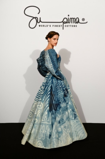 Haute Couture Robe aus USA Baumwolle von Kate Mc Kenna