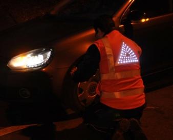 Aktive leuchtende Warnweste Photos: TITV Greiz