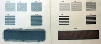 Druckversuche auf Polyester mit unterschiedlichen Druckqualitäten