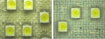Passivierung eines mehrlagig gewebten Schaltungsträgers mittels Tauchbeschichtung bzw. tiefgezogener Membrane Photos: TITV Greiz