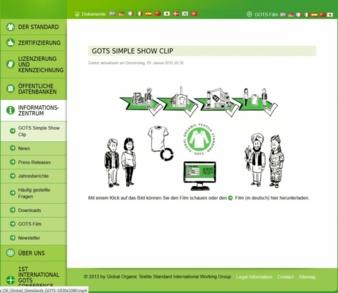 Screenshot - Webseite GOTS Photo: screenshot