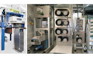 Bikomponenten-Hochtemperaturspinnanlage (Fourné Polymertechnik) und modularer Take-