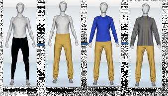 Abb. 3: Simulation der Bekleidungsschichten (CS1 und CS2, Testperson 1)