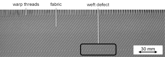 Figure 2: Weft defect